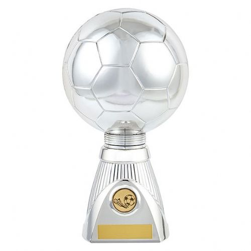 Planet Football Deluxe Rapid 2 Trophy Silver & Black 255mm
